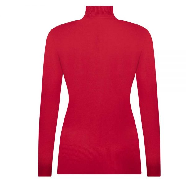 Zoso luxury Knitted Rollneck Red